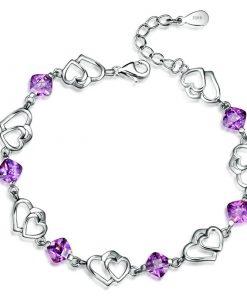 Bracelet Argent Et Amethyste