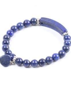 Bracelet En Lapis Lazuli Bleu