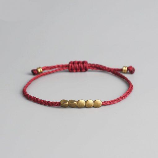 Bracelet Tibétain Doré - Porte Bonheur