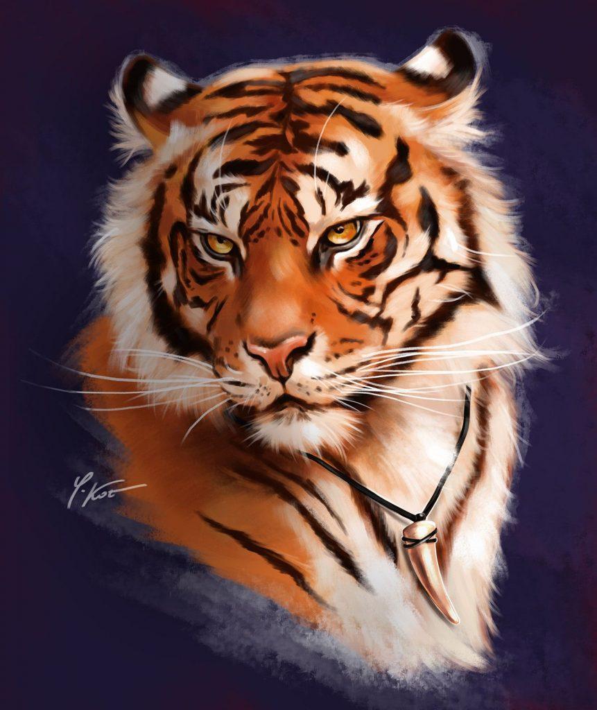 symbole oeil de tigre