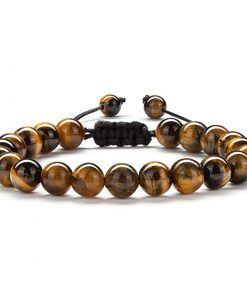 Bracelet Homme Perle Oeil De Tigre