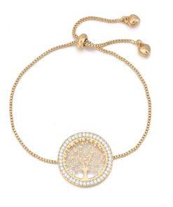 Bracelet Arbre De Vie Or