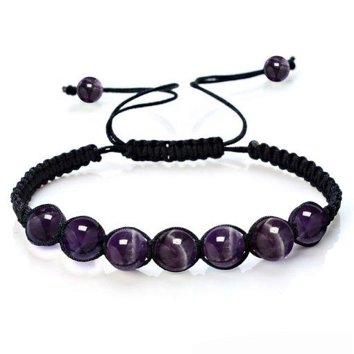 Amethyst Shamballa Bracelet