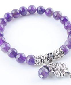 Bracelet Perle Amethyste