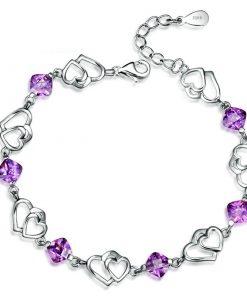 Bijoux Amethyste Argent Bracelet