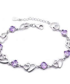 Bracelet Acier Amethyst