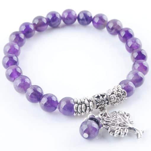 Bracelet Amethyste Arbre De Vie