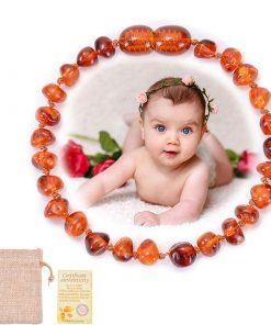Bracelet Ambre Cheville Bébé