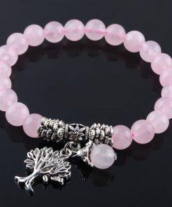 Thomas Sabo Rose Quartz Charm Bracelet