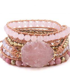 Bracelet Quartz Rose Nature Et Decouverte