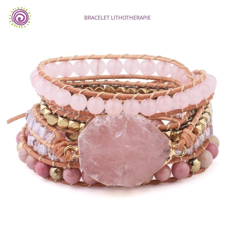 Bracelet Quartz Rose Nature Et Decouverte   Bracelet Pierre ...