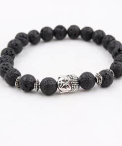 Bracelet Bouddha Pierre De Lave