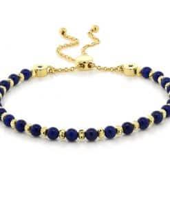 Bracelet Lapis Lazuli Et Or