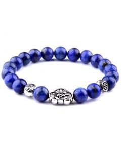 Bracelet Charme En Lapis Lazuli Bleu