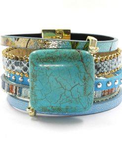 Amazonite Sur Bracelet