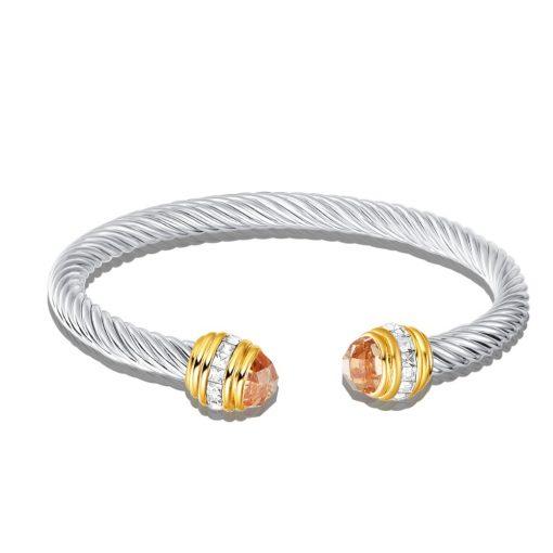 David Yurman Citrine Cable Bracelet