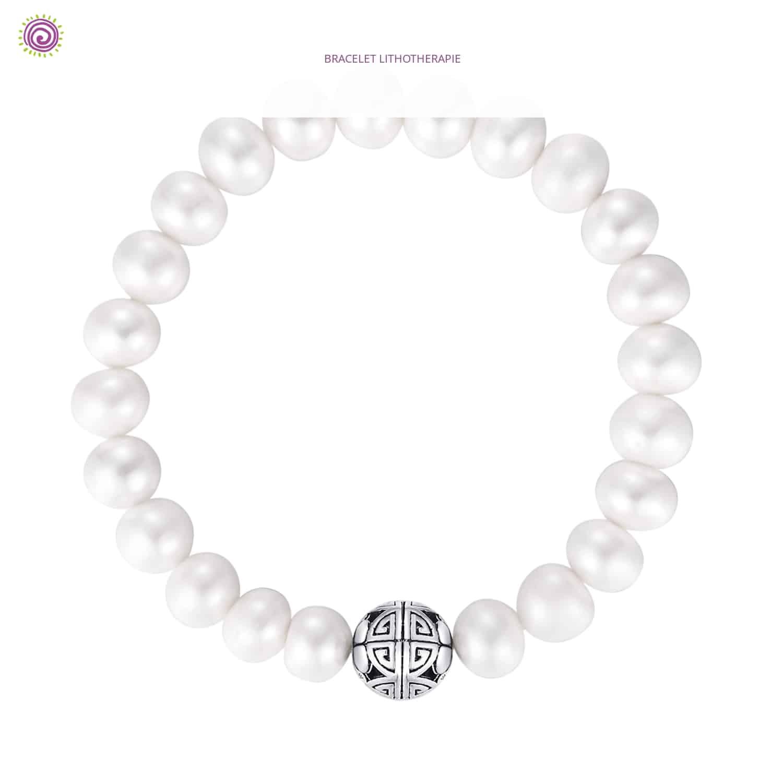 Bracelet Perle Swarovski | Bracelet Pierre Lithothérapie