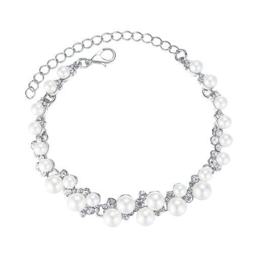 Bracelet Au Crochet Avec Perles