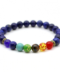 Bracelet 7 Chakras Lapis Lazuli