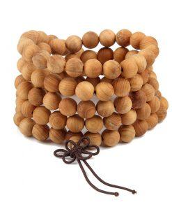 Bracelet Mala Tibetain Bois