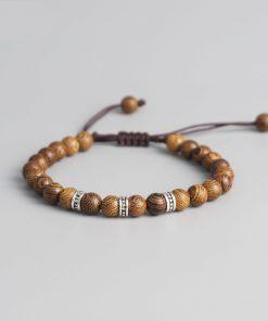 Bracelet Tibetain En Bois