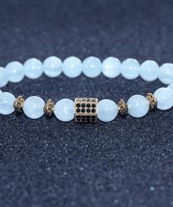 Bracelet Aigue Marine Bleu Pâle