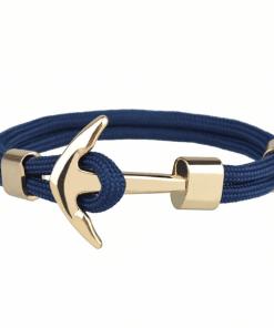 Bracelet Ancre Homme Or