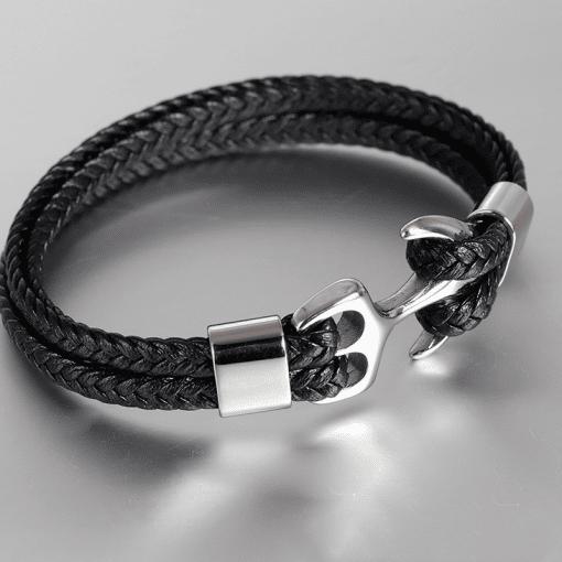 Bracelet Cuir Ancre