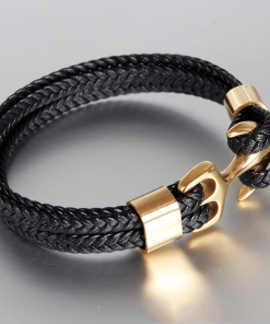Bracelet Homme Ancre Or