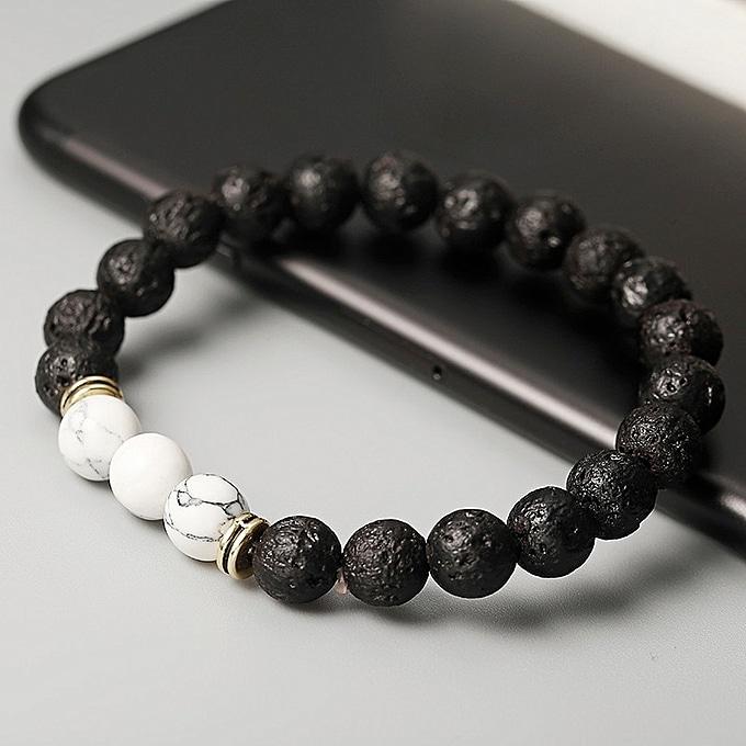 bracelet en pierre de lave avec perles