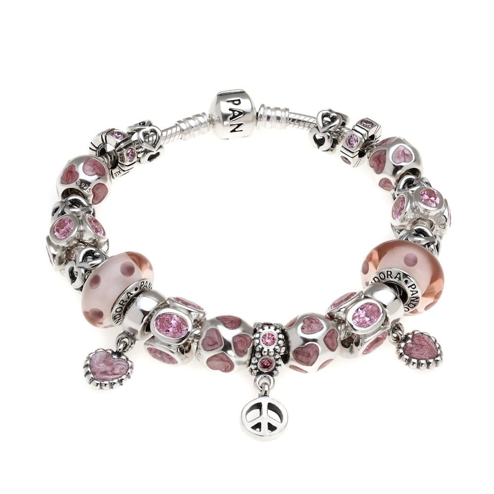 bracelet pandora perles rose en argent