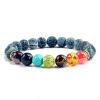 Bracelet Chakras Lapis Lazuli Craquelé