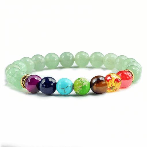 Bracelet 7 Chakras Jade Vert