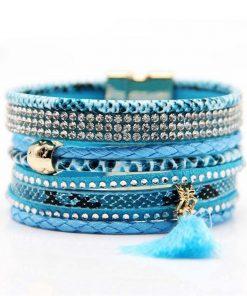 Bracelet Bresilien Fermoir Magnetique