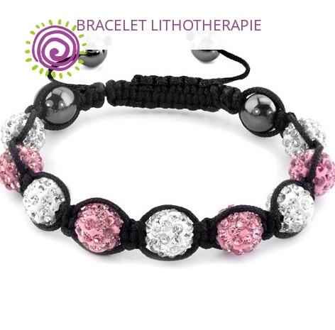 Bracelet Shamballa Rose Fushia