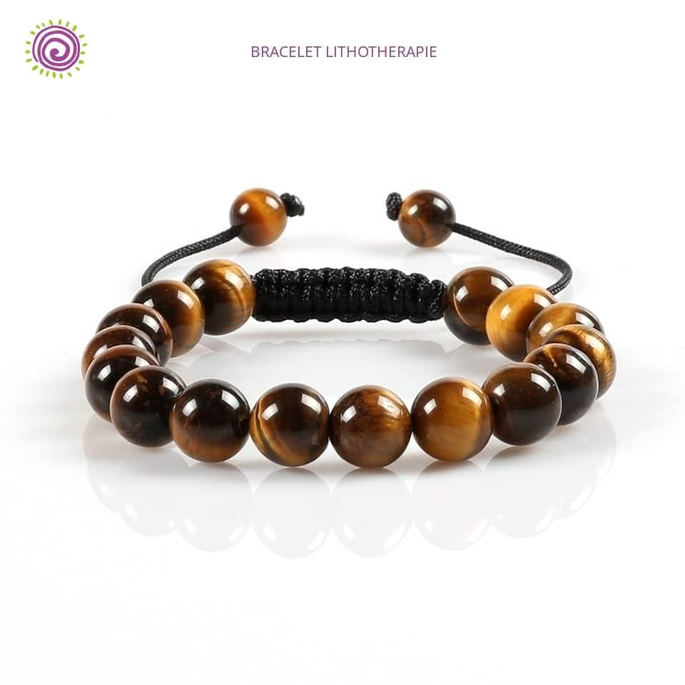 Bracelet Shamballa Homme Oeil De Tigre