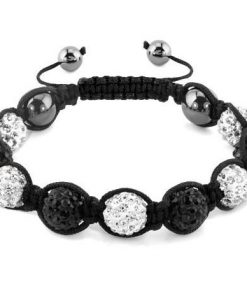 Bracelet Shamballa Diamant Noir