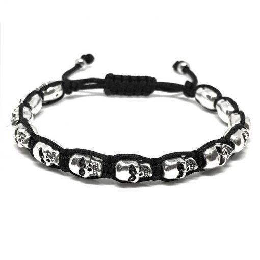 Bracelet Shamballa Tete De Mort