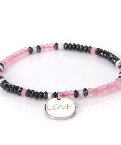 Bracelet Rhodonite Quartz 6mm