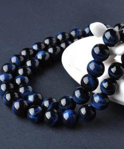 Bracelet Boule 8 mm Oeil De Faucon