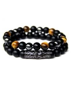 Bracelet Homme Onyx Noir