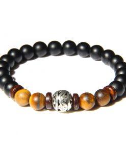 Bracelet Onyx Et Oeil De Tigre