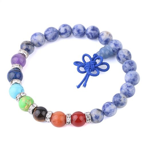 Bracelet Homme Perle Bleu Sodalite