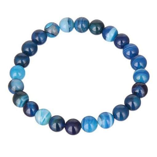 Agate Bleue Bracelet