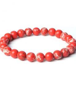 Bracelet Jaspe Rouge Homme