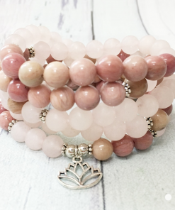 Bracelet Amour Et Guérison En Rhodonite