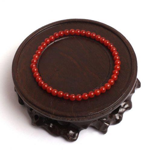 Bracelet Cornaline 4mm