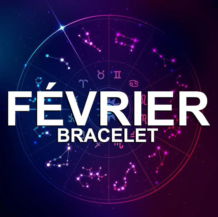 Bracelet Pour Le Signe Du Zodiaque Février