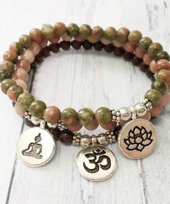 Bracelet Rhodonite Bouddha