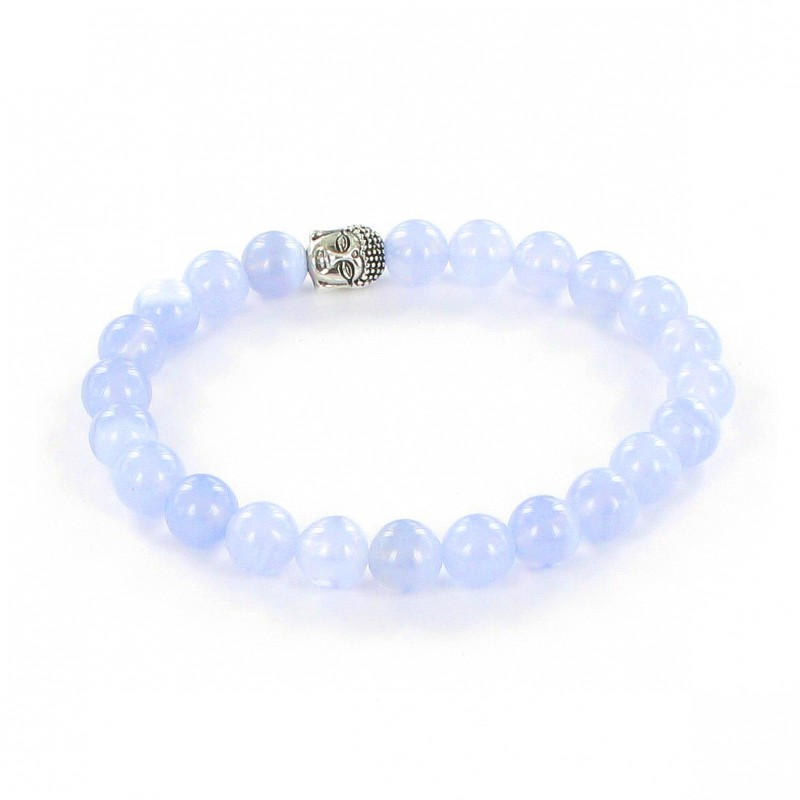 bracelet agate dentelle bleue